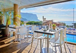 Restaurant vue mer hotel cassis